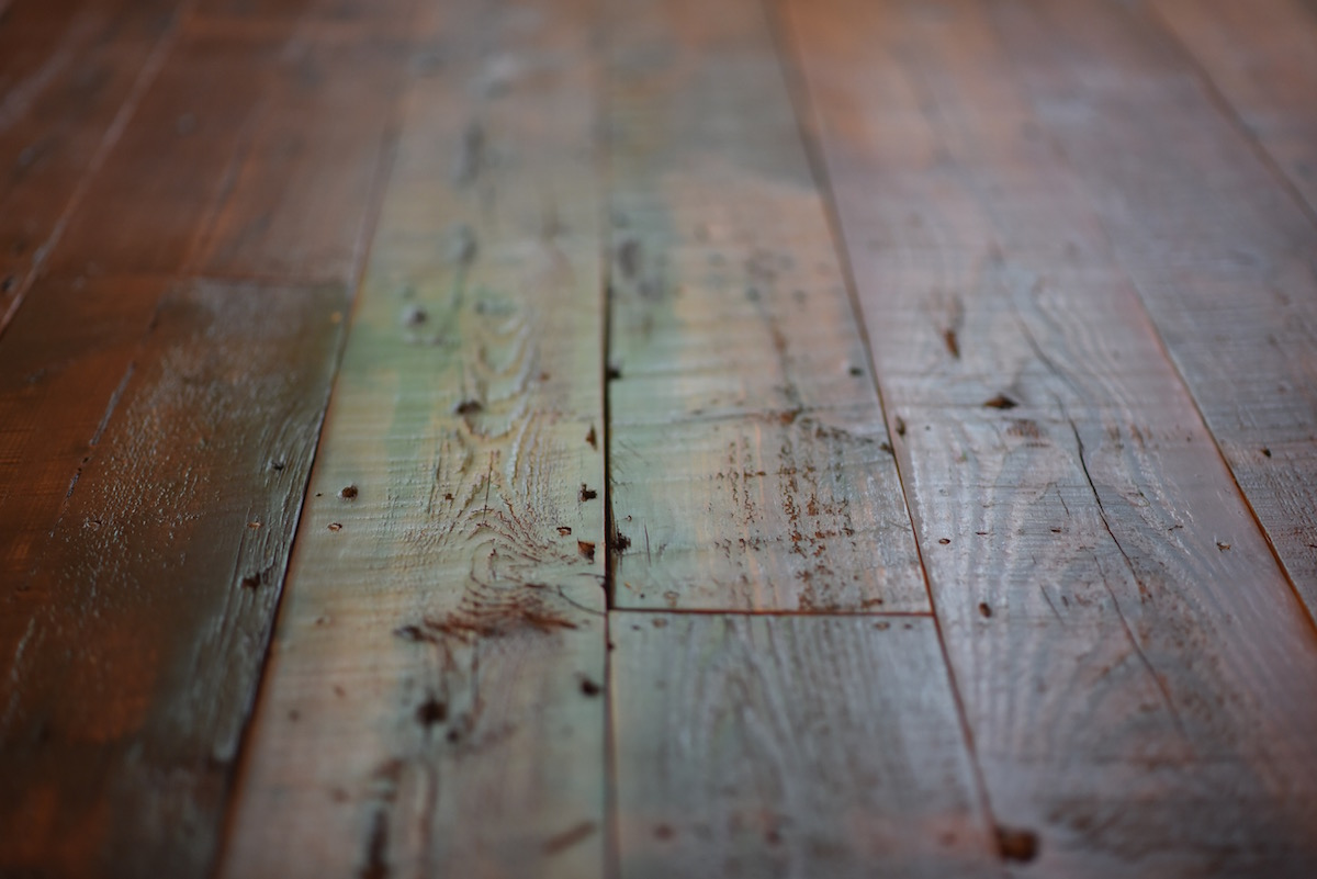 Rough Wood Planks ~ Rough sawn pine planks brick board